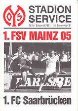 II BL 91/92 1. FSV Mainz 05 - 1. FC Saarbrücken, 08.09.1991