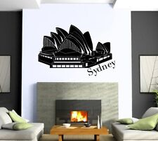 Wall Sticker Vinyl Decal Sydney Opera House Tourism Attraction ig1302
