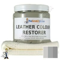 LIGHT GREY Leather Dye Colour Restorer for AUDI Leather Car Interiors, etc
