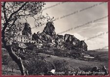 CALTANISSETTA CITTÀ 37 CASTELLO Cartolina FOTOGRAFICA viaggiata 1954