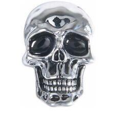 Emblème adhésif autocollant Skull tête de mort Crâne PF moto custom sticker 3D