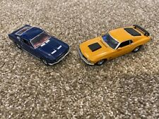 TWO-MATCHBOX/Dinky DIE-CAST 70 FORD MUSTANG BOSS & 67 Mustang Fastback 1:43