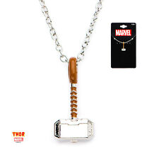 OFFICIAL MARVEL COMICS: THOR HAMMER PENDANT ON CHAIN NECKLACE (NEW)