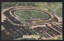 Postcard SEEKONK MA  Bristol Race Track Auto Speedway Aerial view 1940's