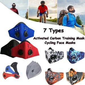 Outdoor sports Cycling Face mask Reusable with Activated Carbon Filters