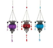 Moroccan Style Hanging Tea Light Candle Holder. 3 Colours. Summer Garden BBQ