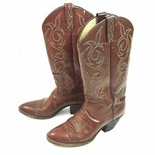 Dan Post Boots 7C Cowboy Western Vintage Brown Leather