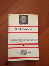 Bertolt Brecht POESIE E CANZONI Einaudi nue 1971