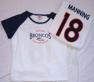 Denver Broncos Football Peyton Manning Ladies Cropped T-Shirt White