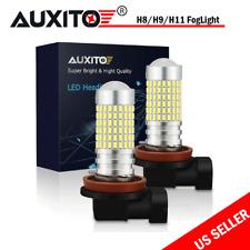 Pair H11 H8 H9 55W LED Fog Light Bulbs Car Driving Lamp DRL 6000K Xenon White