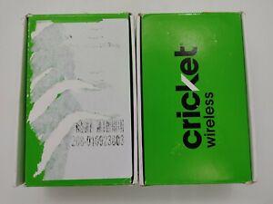 Cricket Icon 2 U325AC Blue 16GB Cricket Check IMEI Open Box Lot of 2 -LR0307
