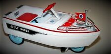Vintage Speed Boat Pedal Car White Rare Midget Metal Show Model