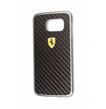 Coque Samsung Galaxy S6 Ferrari Fibre de carbonne Noir