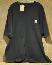 Carhartt K87 Men's Workwear Pocket Short Sleeve T-Shirt Black Xxl 2Xl New