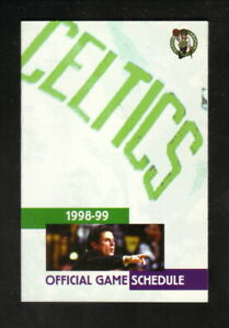 Boston Celtics--Rick Pitino--1998-99 Pocket Schedule--Bud Light