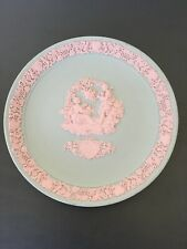 Valentine's Day 1985 Wedgwood Pink on Grey Jasperware Collector Plate Ltd Ed