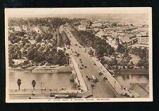 Australia MELBOURNE St Kilda Rd Princes Bridge 1931  PPC