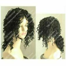 MJ Michael Jackson Sexy Black Curly Wig Fashion Cosplay Hair Wig Synthetic Wigs