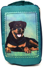 Rottweiler Foldable Tote Bag - Durable, Waterproof - Zippered Market Tote