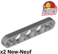 Lego Technic - 2x Liftarm 1x5 Axle holes thin mince gris/light b gray 11478 NEUF