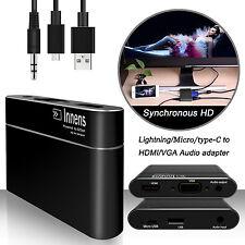 Lightning to HDMI/VGA Audio AV Adapter Converter for Apple Android Phone/Tablet