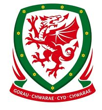 Vinyl Sticker 10x9cm laptop wall car Wales Welsh football Cymru soccer Cardiff