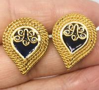 NOS MMA Metropolitan Museum of Art Enamel Earrings Never Worn Vintage Jewelry