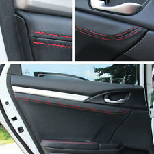 For Honda 10th Civic 16-17 Car Door Panel Cover Surface Shell Leather Trim 4pcs