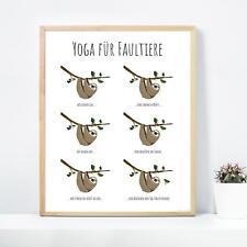 Yoga für Faultiere Poster Janette 40 X 50 Cm