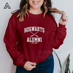 Hogwarts Alumni Sweatshirt Harry Potter Unisex Ladies Kids Gift Sweatshirt(166)A