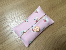Handmade Packet Tissue Holder Made With Cath Kidston Pink Floral Spot Fabric