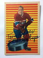 "*SIGNED* (RC) TERRY HARPER 1963-64 Parkhurst #91 *INSCRIBED* ""5 STANLEY CUPS"" EX"