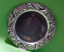 "Mariposa Brillante large round metal SEASHELLS Serving Platter / Tray.  13 1/4 """