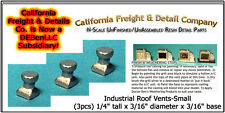 Industrial Roof Vents-Small (3) N/1:160-Scale Craftsman CAL Freight & Details Co