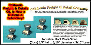 CAL Freight & Details Industrial Roof Vents-Small (3) N/1;160