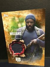 The Walking Dead Season 5 Tyreese Williams  Authentic Shirt Relic Card Rust41/99