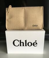 "Chloe Change/Makeup Bag - Cosmetic travel pouch/purse zippered - 6"" x 4"" - NIB"
