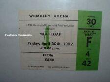 MEATLOAF Concert Ticket Stub APR 30, 1982 WEMBLEY ARENA London U.K. VERY RARE