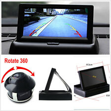 "DC12V 360° Rotatable Cars Reversing Camera 4.3"" Foldable LCD Digital Monitor Set"