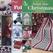 3 Polish Star Crochet Pattern Booklets ~ Afghans Shawls Angels Stockings New