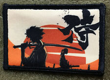 Samurai Champloo Morale Patch Anime Tactical Military Tactical Army Flag USA