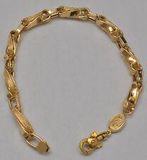 "18k Solid Yellow Gold Twisted Fancy Link Bracelet 9.25 "" 15.9 Grams 5.8-6.8 mm"