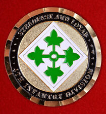 Challenge coin NATO Emblem of distinction U.S. army 4th infantry division