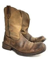 Ariat Men's 10.5 11 D Brown Distressed Leather Cowboy Western Boot Decor Display