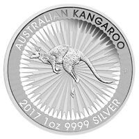 2017-P $1 Australia 1 Troy Oz .9999 Fine Silver Kangaroo Coin SKU43570