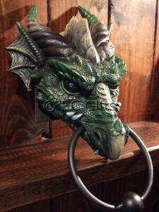 "GOTHIC DRAGON HEAD DOOR KNOCKER ""KRYST"" AMAZING QUALITY NEW & BOXED"
