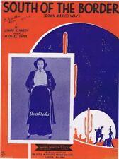 Vintage Sheet Music South of the Border (Down Mexico Way) Doris Rhodes 1939