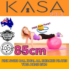 Pilates Yoga For Home 85 Cm Pink Swiss Ball Ideal For All Exercise Anti Burst