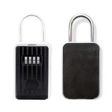 Key Lock Box Storage Safe Box Realtor 4-Digit Combination Lock Box Padlock for