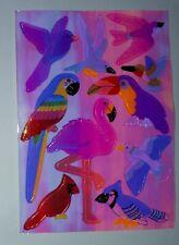 🦁🦉Sandylion BIG Abriss Vögel pearly glänzend  Scrapbooking Sticker 90er 🦉🦁